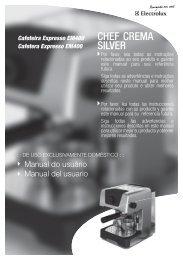 69500236_REV01_MANUAL CHEF CREMA SILVER.indd - Colombo
