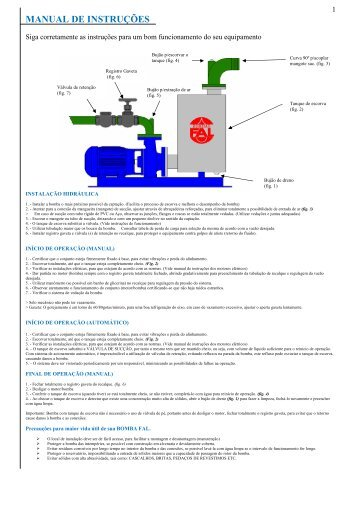 Manual de Instrução Linha ASMO - Bombas FAL