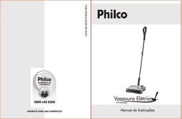 469 05 00 Rev1 Folheto de Instruções Vassoura Elétrica PHVE200.cdr