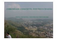 COMUNIDADE CONSCIENTE, INDIVÍDUO CIDADÃO - Divisão de ...