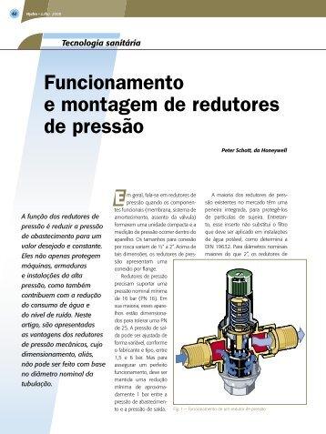 Funcionamento e montagem de redutores de pressão - CEB