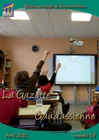 Gazette n°58 - Commune de Jouy-aux-Arches