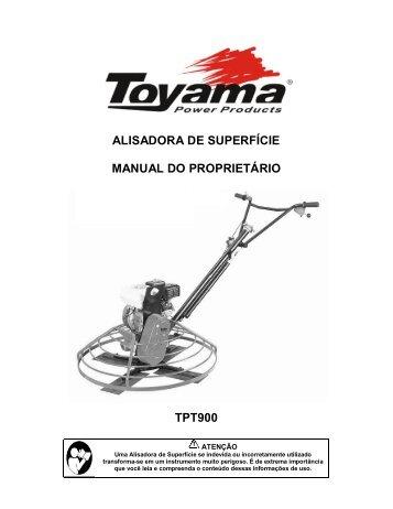 ALISADORA DE SUPERFÍCIE MANUAL DO ... - Toyama
