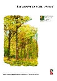 Impôts en forêt privée - Maison de la Forêt et du Bois d'Auvergne