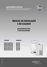 MANUAL DE INSTALAÇÃO E DO USUÁRIO - Rheem