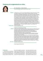 Trastornos de la pigmentación en niños - sepeap