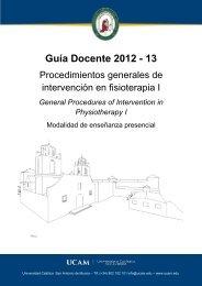 Procedimientos Generales de Intervención en Fisioterapia I