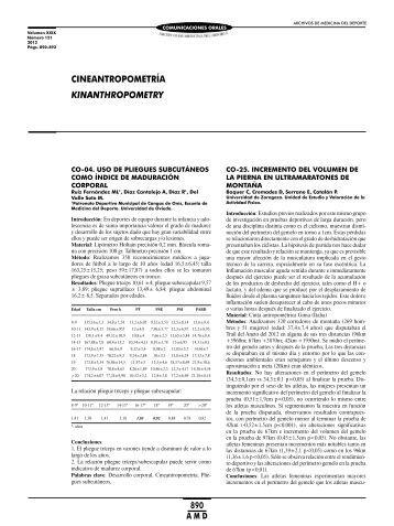 Cineantropometría - Federación Española de Medicina del Deporte