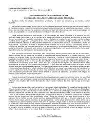 Necesidades reales, necesidades falsas y su ... - Pathwork México