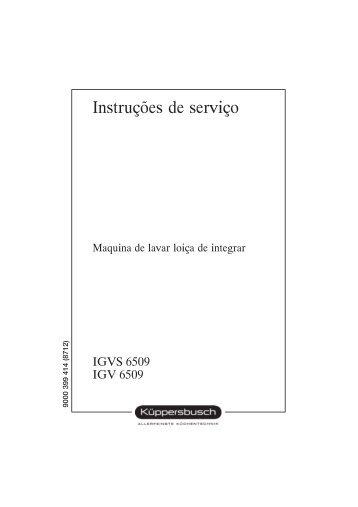 Instruções de serviço