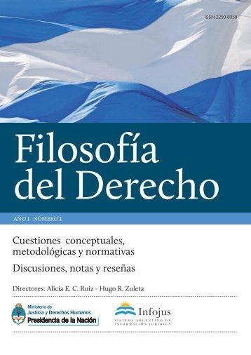 filosofia del derecho FINAL cur - Sistema Argentino de Informática ...