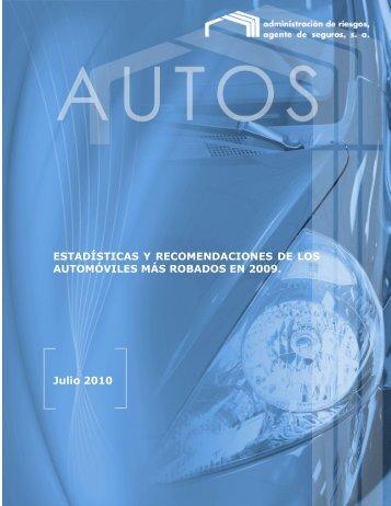 EstadÍsticas Y Recomendaciones De Los AutomÓviles MÁs Robados