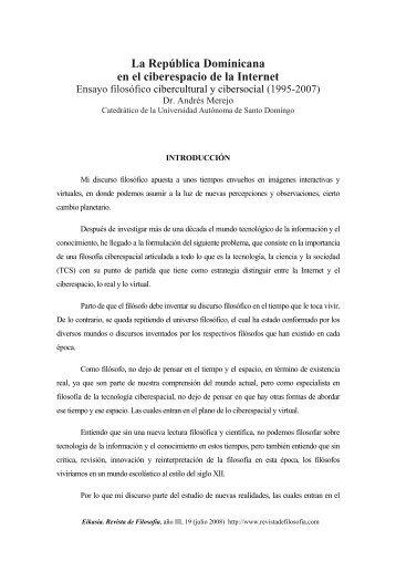 Ensayo filosófico cibercultural y cibersocial (1995-2007) - Educando