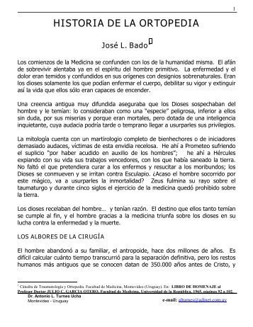 Historia de la Ortopedia en el Uruguay. - Sindicato Médico del ...