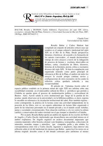 Figuraciones del siglo XIX. Libros, escenarios y miradas - Revista ...