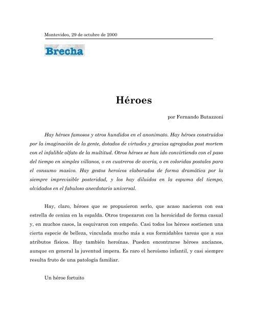 Héroes - Fernando Butazzoni