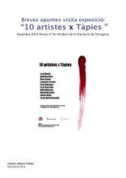 10 artistes x Tapies Por Carme Juliana - Boek 861