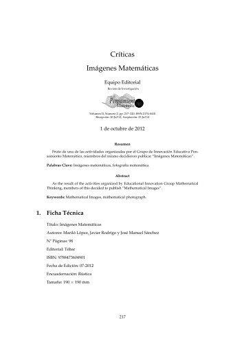 Críticas - Imágenes Matemáticas - ETSI Caminos Canales y Puertos ...