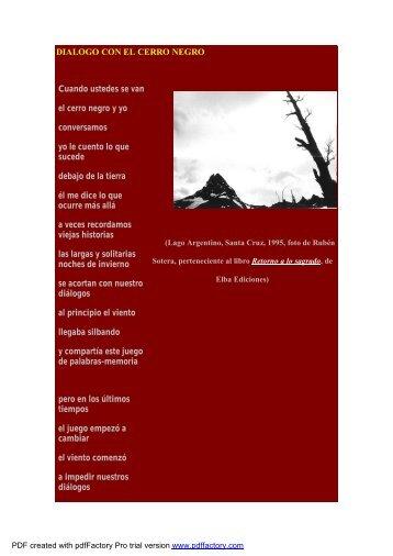 Poemas e imágenes patagónicas - Folklore Tradiciones