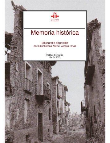 Memoria histórica - Instituto Cervantes Berlin