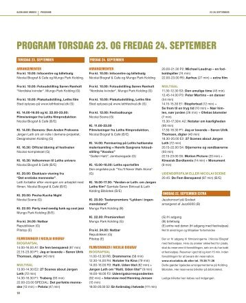 program torsdag 23. og fredag 24. september - City Kolding