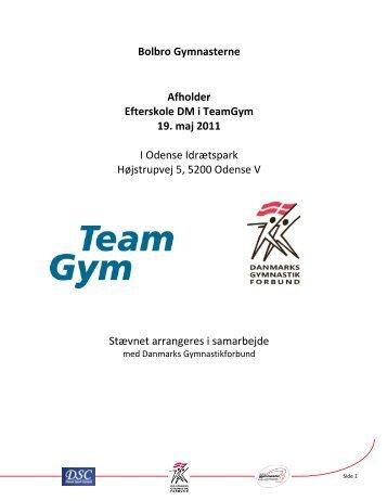 Bolbro Gymnasterne Afholder Efterskole DM i TeamGym 19. maj ...