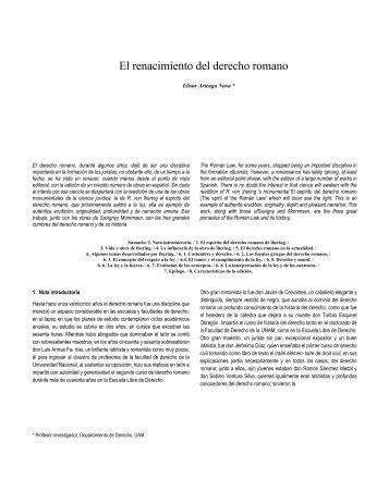 El renacimiento del derecho romano