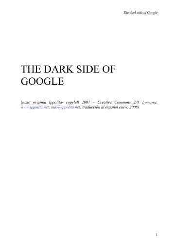 El oscuro lado de Google - Ippolita.net