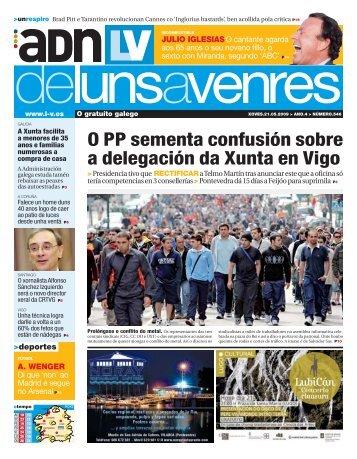 O PP sementa confusión sobre a delegación da Xunta en Vigo