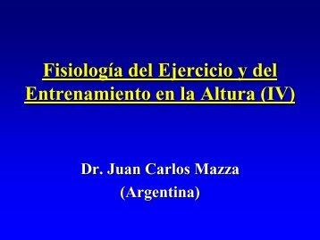 Fisiología del Ejercicio y del Entrenamiento en la Altura (IV)