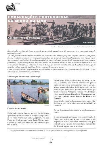 embarcações portuguesas do minho ao lima - Federación Galega ...