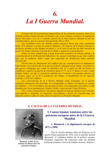 Tema 6. La I Guerra Mundial - Instituto Bachiller Sabuco