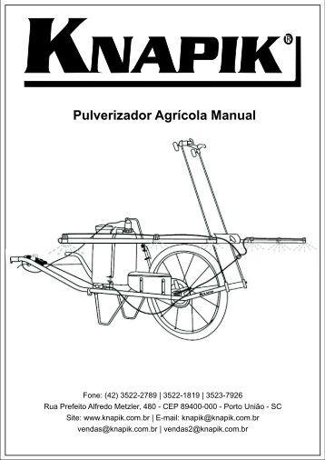 Montagem do tanque no quadro - Pulverizador Manual Knapik
