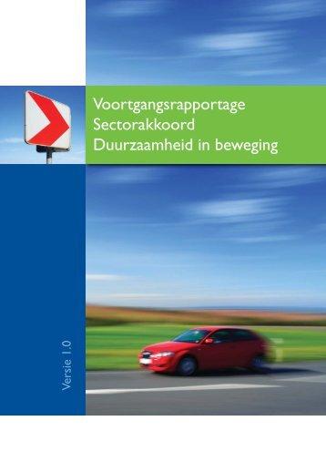 Voortgangsrapportage Sectorakkoord Duurzaamheid in beweging