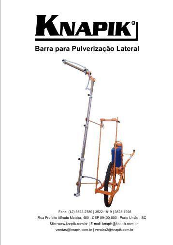 Barra para Pulverização Lateral - Pulverizador Manual Knapik