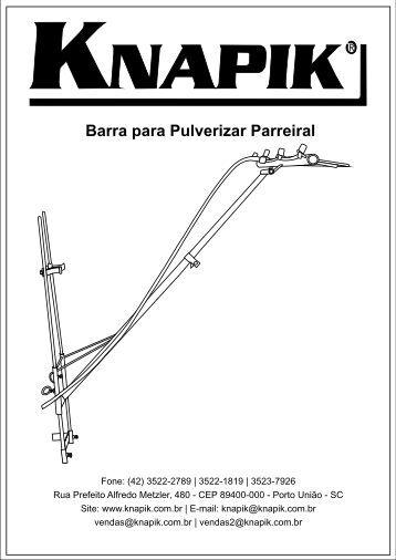 Barra para Pulverizar Parreiral - Pulverizador Manual Knapik