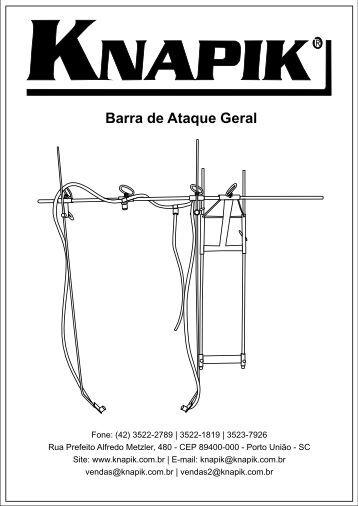 Barra de Ataque Geral - Pulverizador Manual Knapik