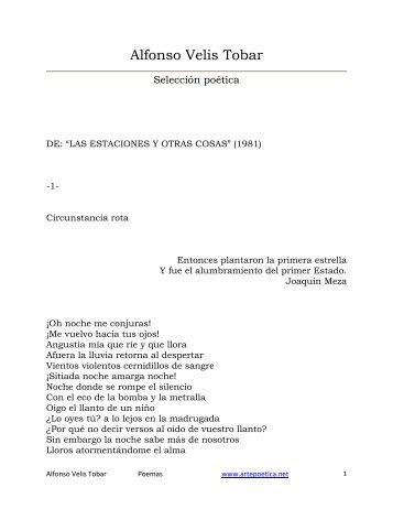 Alfonso Velis Tobar - Rostros y Versos