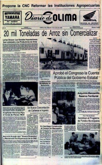 20 mil Toneladas de Arroz sin Comercializar - Universidad de Colima