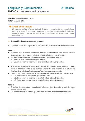 Lenguaje y Comunicación 2° Básico - Educarchile
