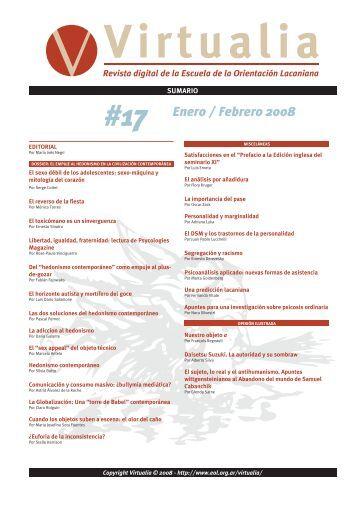 #17 Enero / Febrero 2008 - Virtualia