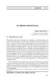 El miedo existencial - Revista Religión y Cultura