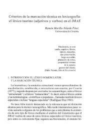 Criterios de la marcación temática en lexicografía: el léxico ... - RUC