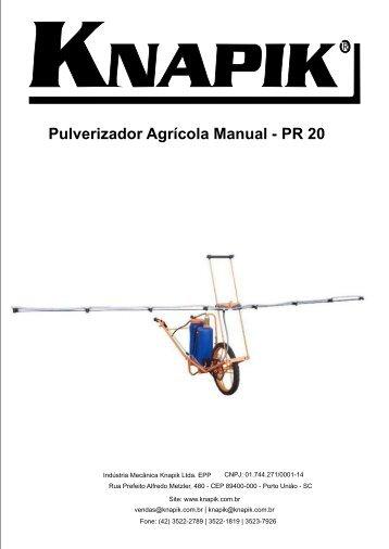 Pulverizador Agrícola Manual - PR 20 - knapik