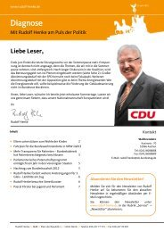 Newsletter Ausgabe 12. Juni 2012 - Rudolf Henke