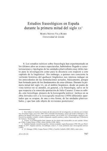 54. Estudios fraseológicos en España durante la primera mitad del ...