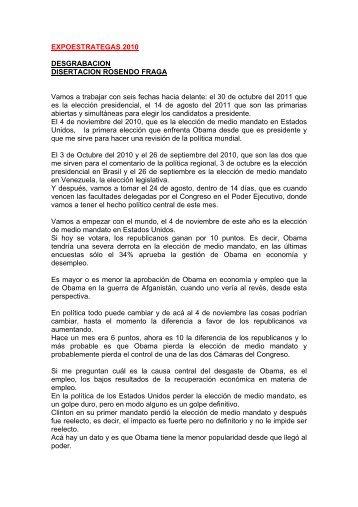 EXPOESTRATEGAS 2010 DESGRABACION DISERTACION ...