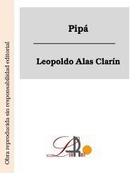 Pipá Leopoldo Alas Clarín - Ataun