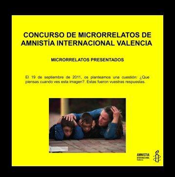 concurso de microrrelatos de amnistía internacional valencia