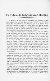 La Biblia de Maguncia en Burgos